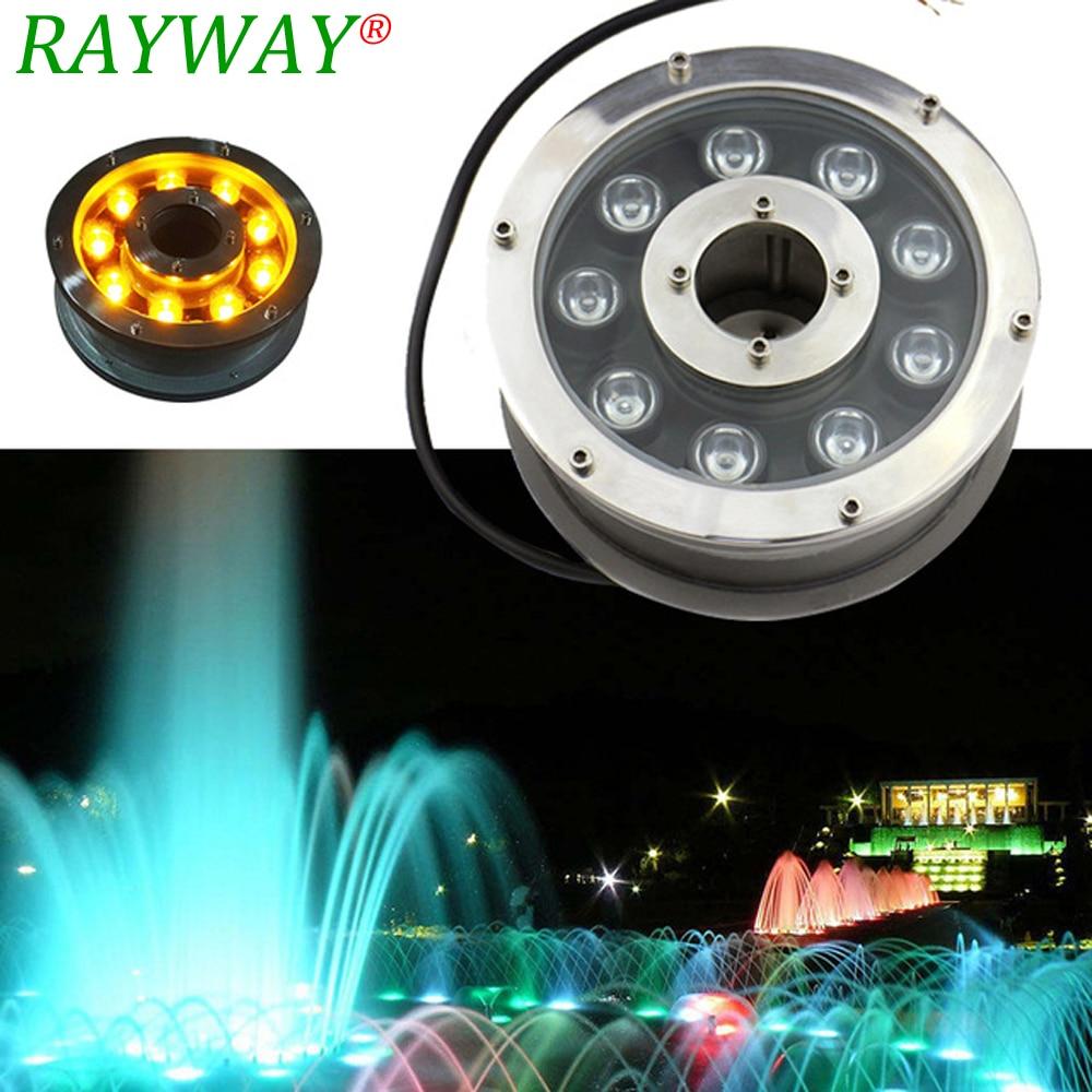RAYWAY DC12V/24V Underwater LED pool light piscina 6W 12W 18W RGB white light IP68 LED Swimming Pool aquarium fountain lamp<br>