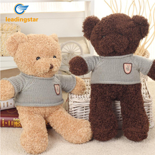 LeadingStar Lovely Stuffed Sweater Small Bear Plush Toys Soft Baby Play Doll Kids Children Girlfriend Birthday Christmas Gift(China)