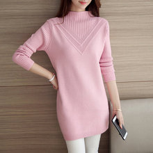 Women Turtleneck Sweater 2017 Winter Long Sleeve female Sweaters and Pullovers 5 Color Ladies Knitted oversized cashmere Sweater(China)