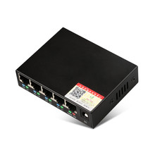 DIEWU 5 Ports POE 10/100 Mbps Intelligent Switch RJ45 Networking Switch Wireless AP Power Supply DC 48V for Monitoring Camera(China)