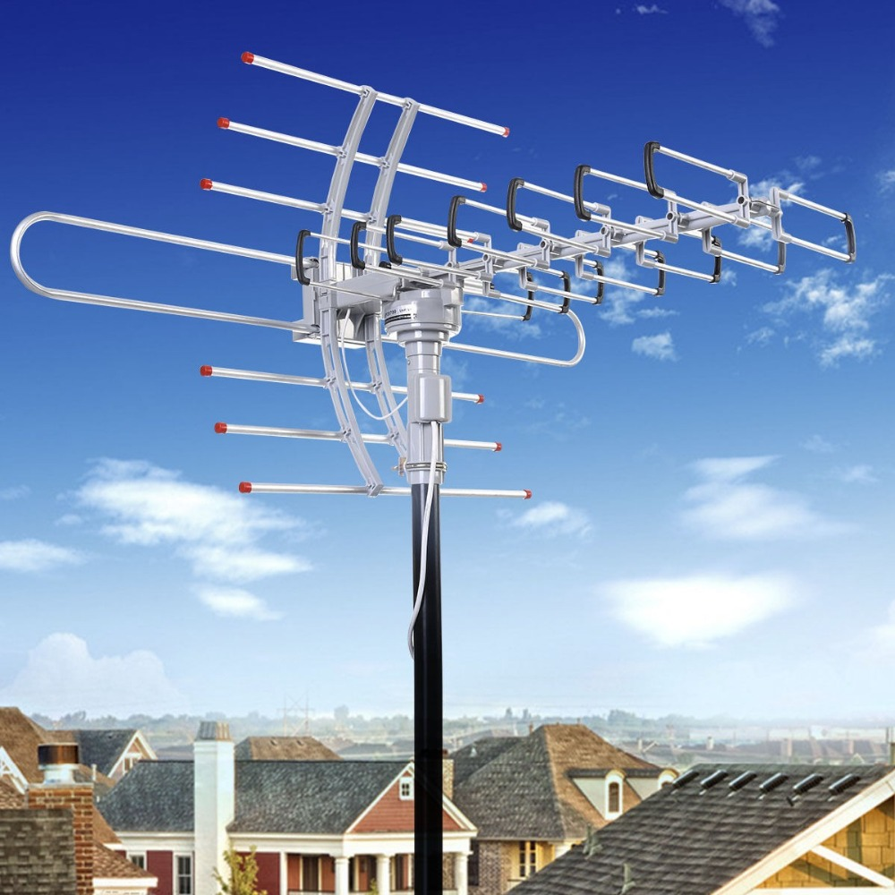 HDTV 1080P Outdoor Amplified Antenna Digital HD TV 150 Mile 360 Rotor UHF/VHF/FM<br><br>Aliexpress