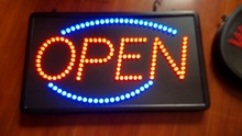 Freeshipping LED screen Electronic word sign neon lamp Business poster sign board Moving display light LED open sign