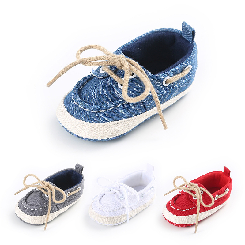 Lace-up Infant First Walker Toddler Canvas Cotton Shoe Sneaker Unisex Baby Shoes
