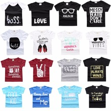 Hooyi Summer Baby Clothes Boy's T-Shirt Infant Tee Shirts 100% Cotton Toddler Tops Girl T Shirt Children Casual Jersey Outfits
