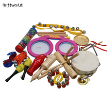 Orff World Children Percussion Instruments Eyes Drum Cylinder 16pcs/Set Early Education Kids Gift Toys Set Birthday Classic(China)