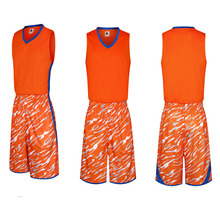 Popular Orange Men Youth Kids Basketball Jerseys Sets Customized Boys Basketball Club Team Training Singlet Suit Uniforms Shirts