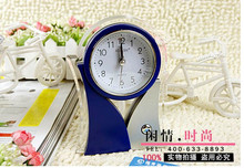 Free Shipping Silent alarm clock simple Korean fashion creative digital white night light 4 inches