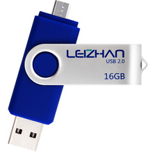LEIZHAN OTG USB Flash Drive 32 gb Micro Memory stick 16GB 2.0 Metal Pendrive 64g Mobile u disk 8GB Android Phone Pen Drive 4Gig
