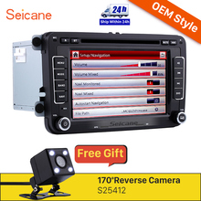 Seicane 2 Din 7 inch Universal Radio DVD Player Bluetooth GPS Navigation Car Stereo for 2008-2013 VW Volkswagen Passat CC SD Aux(China)