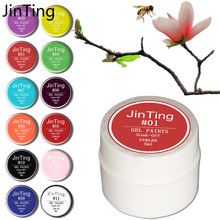 Jinting painting gel 5 ml Pure Color LED/UV Gel For Nail Design Builder Solid Set  paint varnish