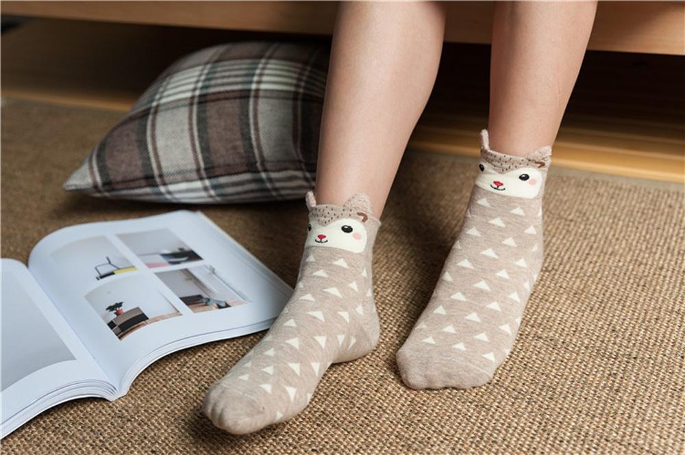 17 New Lovely Cartoon Women Socks High Quality Cotton Sox Japanese Fashion Style Socks Autumn Winter Warm Socks For lady Girls 11