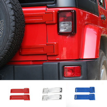 MOPAI ABS Car Exterior Decoration Rear Spare Tire Tailgate Hinge Cover Trim Fit For Jeep Wrangler JK 2008 Up Car Styling(China)