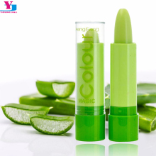 New 1pcs Makeup Temperature Color Change Moisturizing Lipbalm Natural Plant Lip Gloss Lipstick Fruit Lip Smacker Cosmetic Beauty(China)