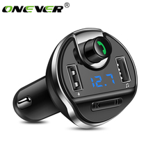 Onever FM Transmitter Bluetooth Wireless FM Modulator Radio Hands Free Car Kit Car MP3 Audio Player with USB Car Charger TF U(China)
