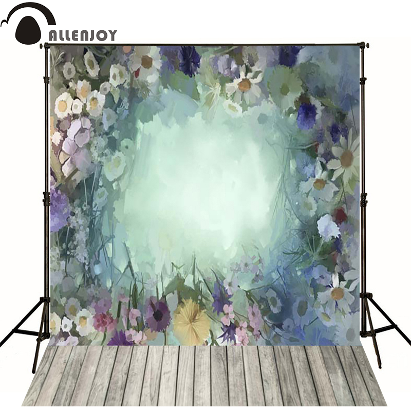 Allenjoy Photographic background Wood painting flower hazy newborn vinyl backdrops  photo for studio interesting wall floor<br><br>Aliexpress