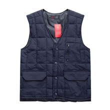 Free shipping 2013 Middle-aged men's down vest winter weatherization
