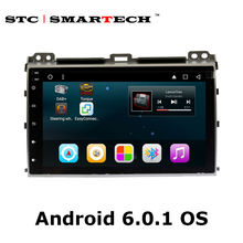 SMARTECH 2 din Car Radio GPS Navigation for TOYOTA Land Cruiser Prado 120 2004-2009 Android 6.0.1 Quad Core 9 inch head unit