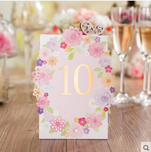 30Pcs PASAYIONE Wedding Place Cards Invitation Cards Printable Name Place Card Romantic Pink Table Escort Card Casamento Decor