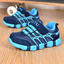 Genuine Leather Children's shoes boys soprts shoes Girls running shoes kids casual shoes breathable sneakers Hook & Loop Rubber(China)