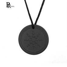 Volcanic Energy Necklace Quantum Pendant 2000 ~ 3000 ions Power Lava Health Care Jewelry for Men Women(China)
