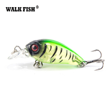 Walk Fish 1Pcs 4.5cm 4g Floating Diving Crankbait Fishing Lures Lifelike Wobblers With 12# Owner Hook peche isca artificial(China)