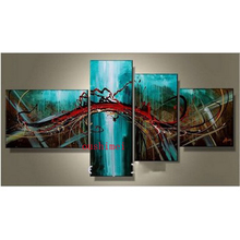 Handmade Modern Oil Painting Decorative Home Picture Hand Painted Canvas Art Abstract Landscape Blue Paintings On Wall Pictures