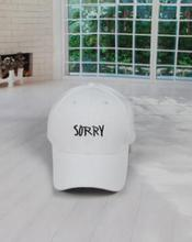 1pcs/lot free shipping korean style woman Letter SORRY Embroidered Baseball Cap unisex canvas casual baseball cap(China)