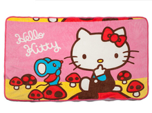 Lovely Soft Warm Coral Fleece Hello Kitty Sofa Throw Blanket	 Bed Office Blankets