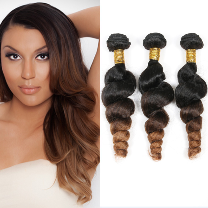 New Arrival Peruvian Virgin Hair Loose Wave Ombre Human Hair Extensions 3 Bundles Wet and Wavy Ombre Loose Curly Hair Spark LW10<br><br>Aliexpress