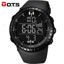 OTS 7005 Men's Watch LED Sports Digital Watch Clock 50M Waterproof Men Top Brand Hour Military Wristwatches Relogio Masculino(China)