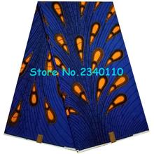 Wholesale high quality 100% cotton super wax hollandais fabric, African ankara fabric 6 yards/lot!ZL1033(China)