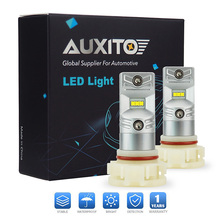 AUXITO 6500K White H10 H16 PSX24W Car LED Fog Light 1200lm 30W DRL Fog Lamp For Jeep GMC Lincoln Ford Chevrolet Chrysler