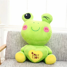 45CM 2016 Cute One Piece Cartoon Huging Love Heart Frog Plush Toy Soft PP Cotton Stuffed Frogs Dolls Kids Toys Birthday Gifts