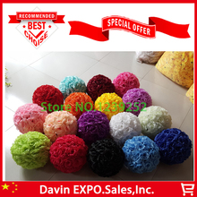 "New 10Pcs/Lot  12"" 30cm Silk Rose Artificial Flower Ball Decoration For Wedding Party DIY Bridal Flower Decor High Quality"