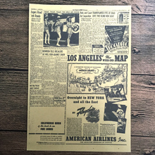 Vintage USA Route 66 newspaper paint prints poster retro wall art crafts sticker pictures living room decor 42x30cm ZNP-B033(China)