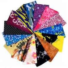 150 colors  Riding Bicycle Motorcycle Bandanas Variety Turban Hood Magic Headband Veil Head Scarves Multi Function Ski For Sport