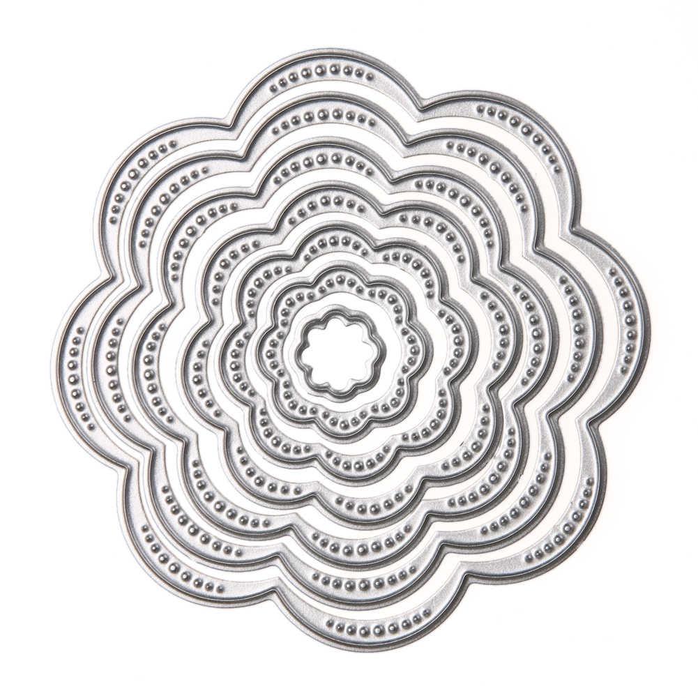 7Pcs Flower Leaves Metal Cutting Dies Stencil DIY Scrapbooking Paper Album Craft
