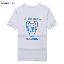 2017 real XII Champions League Winners 12 la Duodecima T shirt Short Sleeve T-Shirt Man casual for hala madrid ronaldo fans gift