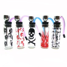 1 Pcs Fashion glass Hookah Pipes Smoking Pipe Water tobacco pipe Shisha Pipe Popular Pattern Style Narguile
