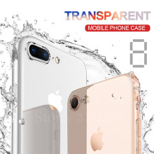 Transparent Silicone Case For iPhone 8 7 plus 6 6 plus Phone Back Soft TPU Coque Cover For iphone 5 5s 6 plus 6 6s Cases(China)
