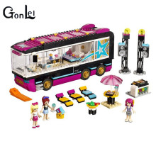 (GonLeI) 10407 Friends Pop Star Tour Bus Building Blocks Sets Bricks Toys Girl Game House Gift Compatible with