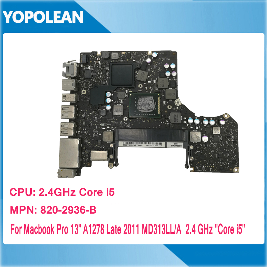 "820-2936-A 820-2936-B i5 2.3GHz Logic Board 13/"" A1278 2011 Apple MacBook Pro"