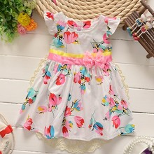 BibiCola New Summer Baby Girls Floral Dress infant Cotton Clothing for girl bebe Famliy Wear Children Dresses Kids Clothes 0-4Y