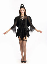 New Arrival Classic Halloween Costumes Vampire Ghost Bride Women's Uniform Party Queen Black Angel Cosplay Sexy Costume(China)