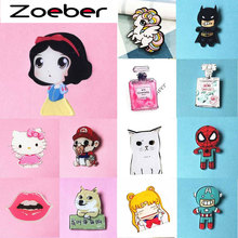 Zoeber New Fashion Anime Brooches pins Acrylic Lovely Girl Gift Cartoon Animation Animal Character Badge Brooch Children Badges