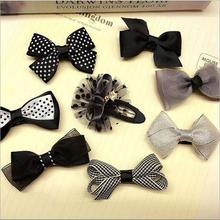 8pcs/lot bowknot baby girls kids hair clips pin bows headwear hairpin accessories for children hair ornaments hairclip headdress