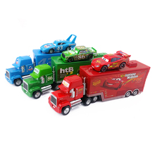 Disney Pixar Cars Mack McQueen & Chick Hicks & King Truck Combination Metal Diecast Toy Car 1:55 Loose Brand New & Free Shipping(China)