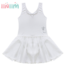 Children's Clothing Sleeveless Rhythmic Gymnastic Leotard Dresses Girls Kids Ballerina Dress Dance Formal Costumes Size 2-14Y(China)
