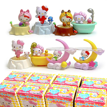 Cute Hello kitty Toys Kitty Cat PVC Figures Dolls 8pcs/set New in Box Christmas Gifts Girls Toys