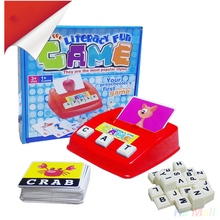 Having Fun Learning English Spell Word Early Childhood Educational Children Toys(China)